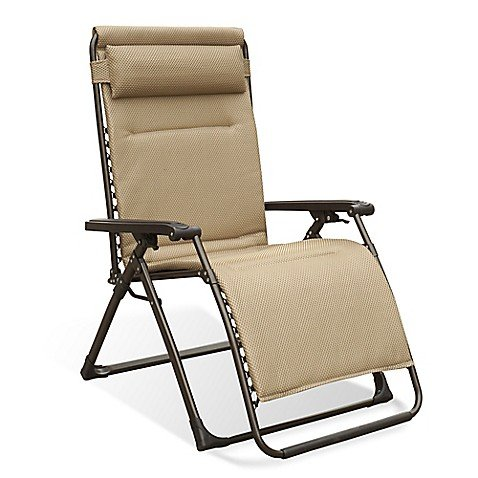 Never Rust Aluminum Oversized Adjustable Relaxer in Tan, Multi-positional/Foldable (Rust And Aluminum)