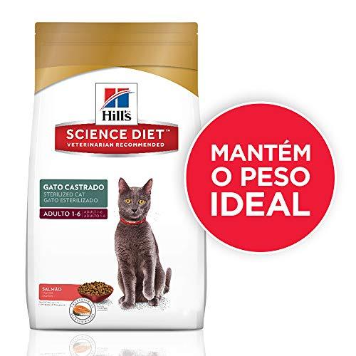 Ração Hill's Science Diet Sabor Salmão para Gatos Adultos Castrados - 7,5kg