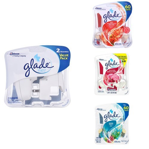 Glade PlugIns Multi-Room Fragrance Variety Pack - Red Honeysuckle Nectar, Blooming Peony and Cherry, Aruba Wave - Honeysuckle Variety Pack