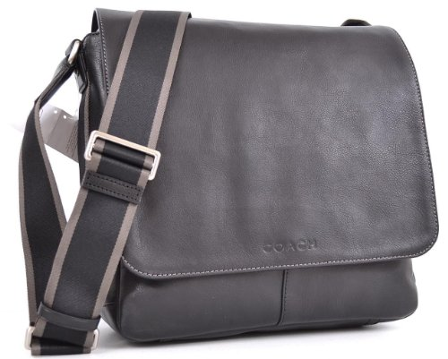 Coach Heritage Leather Messenger Black