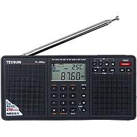 Tecsun PL398MP DSP Digital AM/FM/LW Shortwave Radio with Dual Speakers & MP3 Player, Black