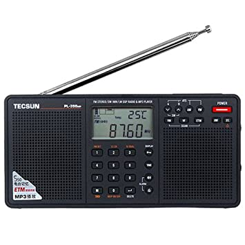 Tecsun Radio Mp-300 Dsp Fm Stereo Usb Mp3-player Desktop-uhr Ats Alarm Schwarz Fm Tragbares Radio Receiver Unterhaltungselektronik