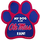 All Star Dogs NCAA Ole Miss Rebels Paw Print Car Magnet