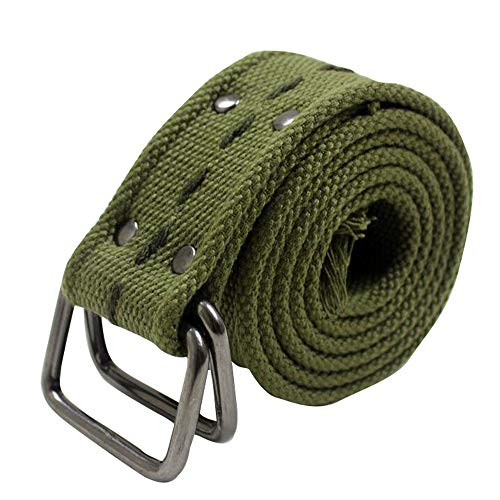Canvas Belt with D-Ring Buckle Army