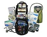 Lightning X Premium Stocked Tactical EMS/EMT Trauma First Aid Responder Medical Kit Backpack (Stealth Black w/Hydration Bladder)