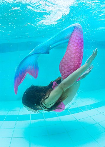 Fin Fun Mermaid Tail, Reinforced Tips, with Monofin, Bahama Blush, Adult M by Fin Fun (Image #4)