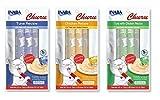 Ciao Churu Cat Treat Creamy Puree Bundle of 3 Packs (1 pack Chicken flavor - 1 pack Tuna with Chicken flavor - 1 pack Tuna flavor)
