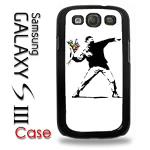 Samsung Galaxy S3 Plastic Case - Banksy Throwing Flowers Street Art L.A. Los Angeles