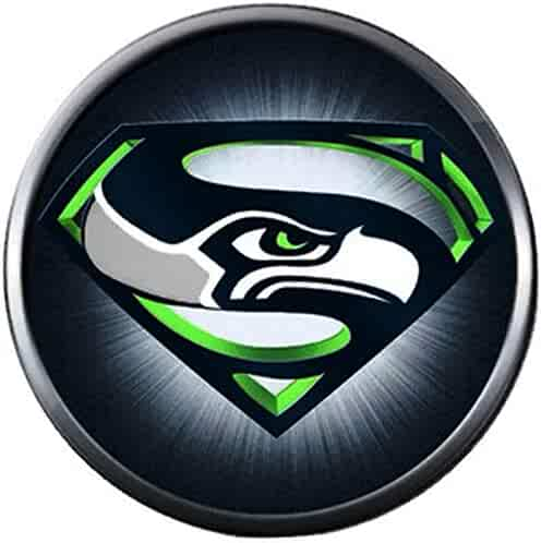 0b7af926 NFL Seattle Seahawks Superman Burst Sports Fan Football Lovers Team Spirit  18MM - 20MM Fashion Jewelry