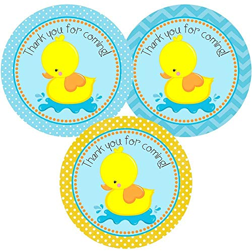 Baby Shower Parenthood (Rubber Duck Thank You for Coming Sticker Labels - Kids Boy Girl Birthday Baby Shower - Set of 30)