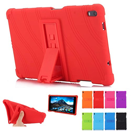 Lenovo TAB 4 8 Plus Case - Light Weight Shock Proof Silicone Cover [Anti Slip] [Kids Friendly] for Lenovo TAB 4 8 Plus TB-8704F TB-8704N Tablet Cases, Red