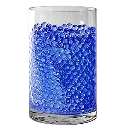 Amazon Sensory Jungle 16000 Floral Water Pearls Blue Vases