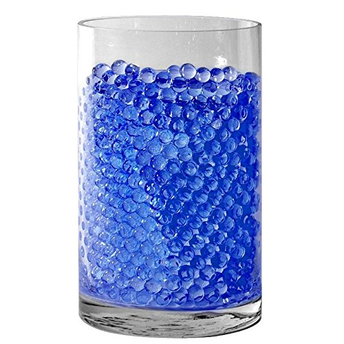 Sensory Jungle 16,000 Floral Water Pearls - Blue - Vases and Centerpieces for Wedding Beads - Makes 12 gallons of Water Beads (Blue Marbles Vases For)