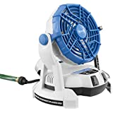 Arctic Cove MBF0181 18-Volt Bucket Top Misting Fan with 2 Speeds (Battery and Charger Included)