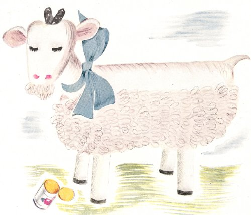 Crochet Stuffed Toy Pattern - Vintage Crochet PATTERN to make - Barn Billy Goat Stuffed Soft Toy Animal. NOT a finished item. This is a pattern and/or instructions to make the item only.