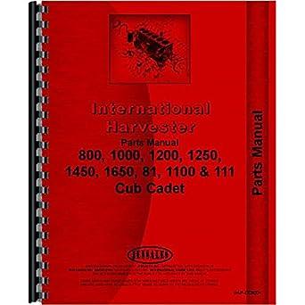 amazon com new tractor parts manual for international harvester cub rh amazon com cub cadet 1450 manual free 1450 Cub Cadet Hydrulic System Check