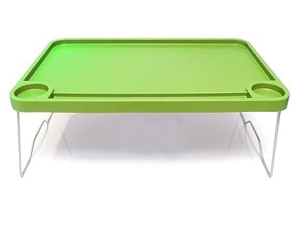 """IKEA bandeja de cama plegable 22 x 14 """"desayuno mesa portátil apoyo verde escritorio"""