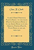 Amazon / Forgotten Books: Clark s Hardy Perennial Plants Pages 1 to 10 , Lilies Page 6 , Gladiolus Pages 11 to 15 , Irises Pages 15 to 20 , Oriental Poppies Page 8 , Tulip Pages 21 and 22 , 1929 - 1930 Classic Reprint (Chas. F. Clark)