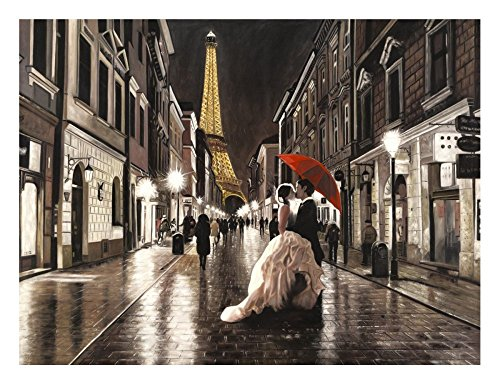 """Global Gallery """"Pierre Benson Kissing In Paris"""" Unframed Giclee on Paper Print, 18"""" x 24"""" from Global Gallery"""