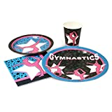 Blue Orchards Gymnastics Standard Party Packs (65+ Pieces 16 Guests!), Gymnastics Party Supplies, Birthday, Decorations, Competition