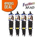 "FreeTress Synthetic Hair Braids Deep Twist Bulk 22"""