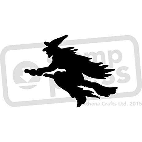Amazon.com: A5 \'Witch Silhouette\' Wall Stencil / Template (WS00003290)