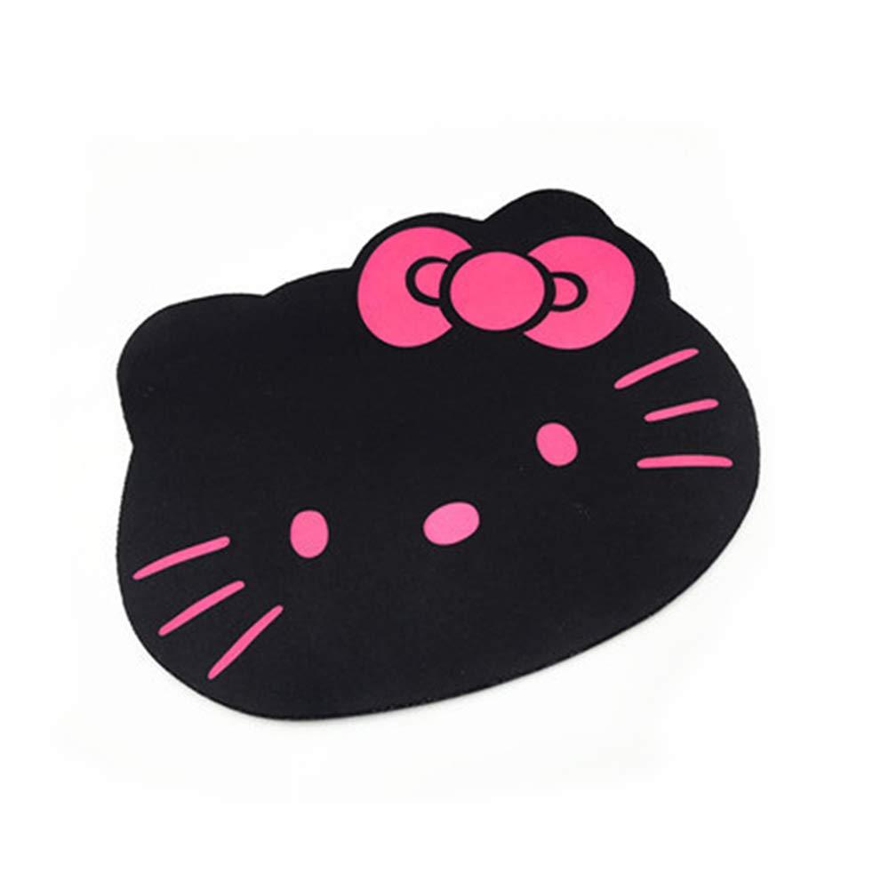 famixyal Kawaii lindo gato Anime Cartoon Character negro rosa Hello Kitty alfombrilla de ratón ordenador PC portátil Hello Kitty Cabeza Big Face gamuza de ...