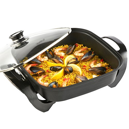 VonShef Square Multi Cooker | Electric Frying Pan with Glass Lid, Non-Stick...