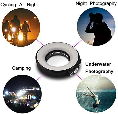 SL-108 67mm Waterproof Adjustable Underwater Diving LED Ring Flash Light for Camera Aufee Waterproof Flash Light Different Scenes Housing Case