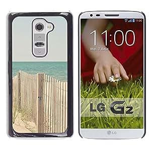 Caucho caso de Shell duro de la cubierta de accesorios de protección BY RAYDREAMMM - LG G2 D800 D802 D802TA D803 VS980 LS980 - Beach Ocean Blue Sand Seashore