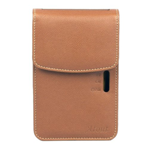 Atout Premium Vintage Synthetic Leather Cover Case [Brown] for LG PD239 Pocket Photo Printer Case Photo #6