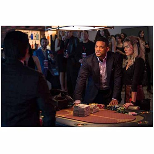 Focus Movie 2015 Will Smith Looking Angry and Margot Robbie Standing at Gambling Table 8 x 10 - Smith Focus