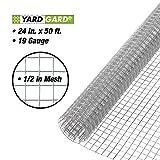 Gilbert & Bennett YARDGARD 308199B 24-Inch x 50-Foot 1/2-Inch Galvanized Mesh Hardware Cloth