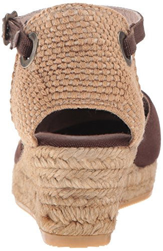 VISCATA Pubol Ankle-Strap, Closed Toe, Classic Espadrilles with 2-inch Heel Made in Spain Braun