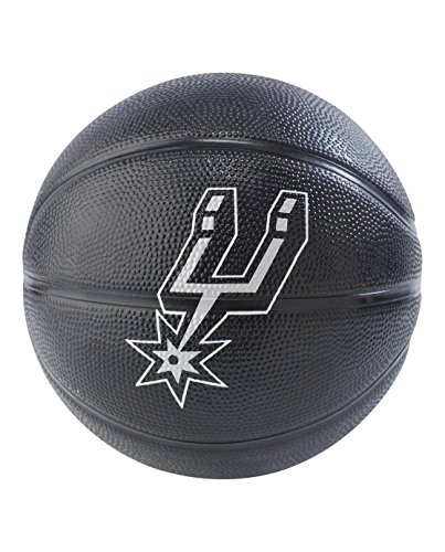 NBA San Antonio Spurs NBA Primary Team Outdoor Rubber Basketballteam Logo, Black, N by Spalding