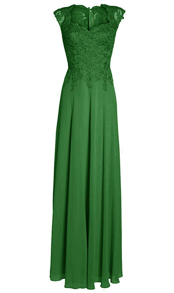 Green Mother of The Bride Dresses with Sleeves Long Evening Gowns Plus Size Lace Mother Dress