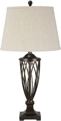 Ashley Furniture Signature Design - Makai Metal Table Lamp - Open Base - Brown