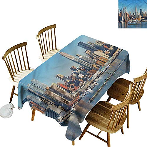 Fashions Rectangular Table Cloth New York Urban City Skyline Party Decorations Table Cover Cloth 50