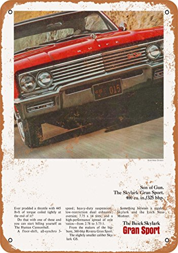 Wall-Color 10 x 14 Metal Sign - 1965 Buick Skylark Gran Sport - Vintage Look ()