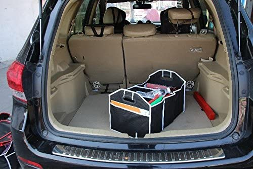 2-in-1 Car Boot Organiser Heavy Duty Collapsible Foldable Shopping Tidy Storages