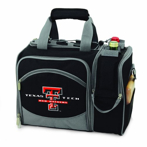 NCAA Texas Tech Red Raiders Malibu Picnic Tote with Deluxe Picnic Service for Two - Deluxe Picnic Bag Time Beach