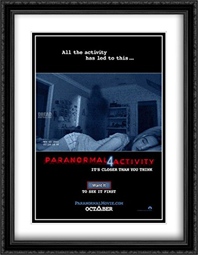 Paranormal Activity 4 28x36 Double Matted Large Large Black Ornate Framed Movie Poster Art Print by ArtDirect