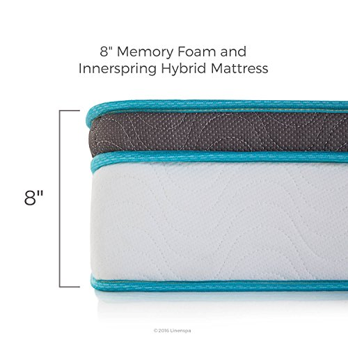 Linenspa 8 memory space space-age foam and Innerspring Mattresses