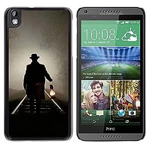For HTC DESIRE 816 , S-type® Lantern Oil Light Night Mysterious - Arte & diseño plástico duro Fundas Cover Cubre Hard Case Cover