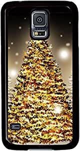 Christmas-Trees-Holiday Cases for Samsung Galaxy S5 I9600 with Black sides