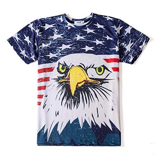 Eagle Flag Adult T-Shirt - 4