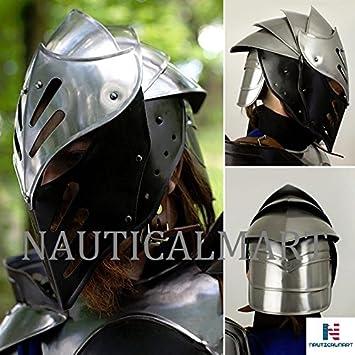 NAUTICAL MART Casco de Hielo Negro Cabeza de Armadura ...