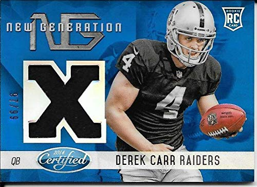 - 2014 Certified New Generation Mirror Blue #DC Derek Carr Jersey #97/99
