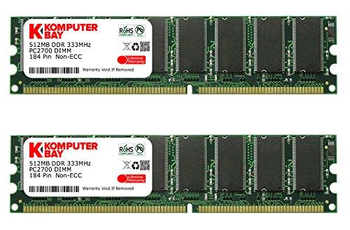 (Komputerbay 1GB ( 2 x 512MB ) DDR DIMM (184 pin) 333Mhz PC 2700 Low Density 1 GB KIT)