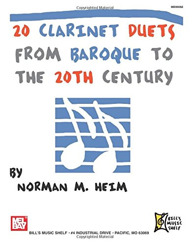 Read Online 20 Clarinet Duets from Baroque to the 20th Century pdf epub